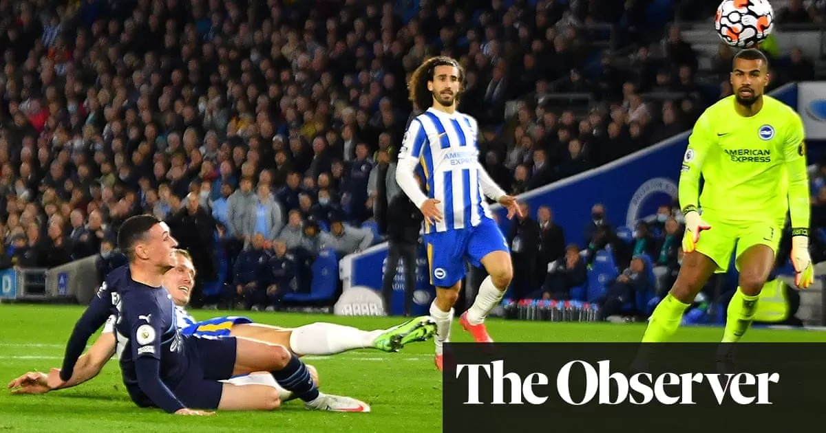 Phil Foden at the double as Manchester City sweep Brighton aside